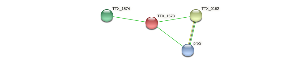 TTX_1573 protein (Thermoproteus tenax) - STRING interaction network