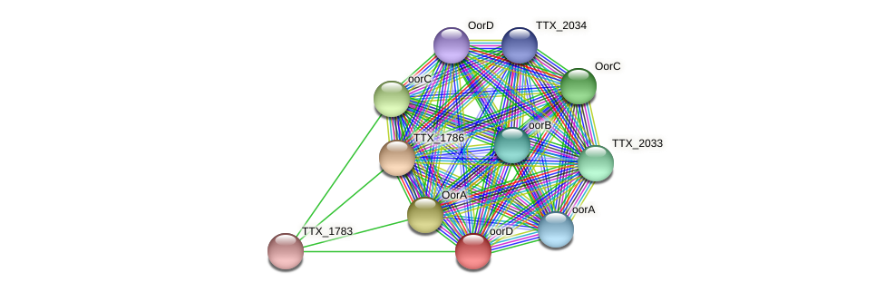 TTX_1784 protein (Thermoproteus tenax) - STRING interaction network