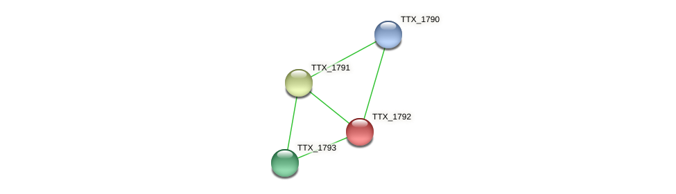 TTX_1792 protein (Thermoproteus tenax) - STRING interaction network