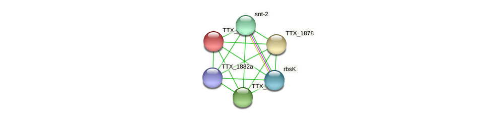 TTX_1879 protein (Thermoproteus tenax) - STRING interaction network