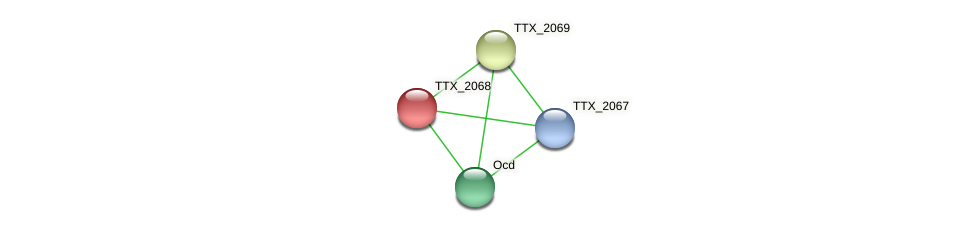 TTX_2068 protein (Thermoproteus tenax) - STRING interaction network