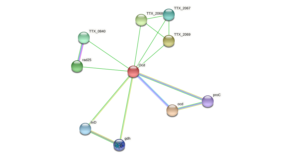 TTX_2070 protein (Thermoproteus tenax) - STRING interaction network