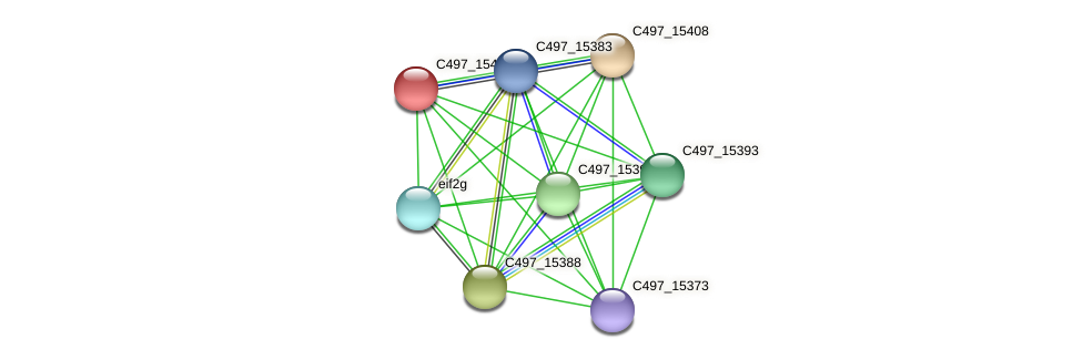 C497_15403 protein (Halalkalicoccus jeotgali) - STRING interaction network