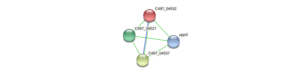 C497_04532 protein (Halalkalicoccus jeotgali) - STRING interaction network