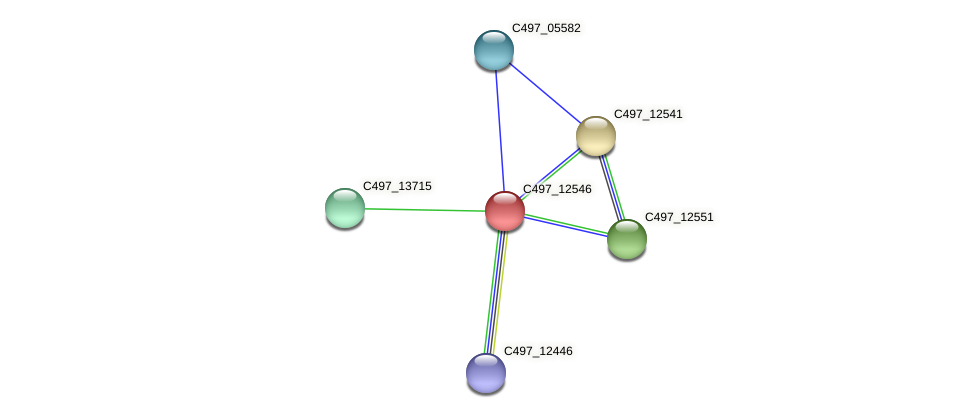 C497_12546 protein (Halalkalicoccus jeotgali) - STRING interaction network