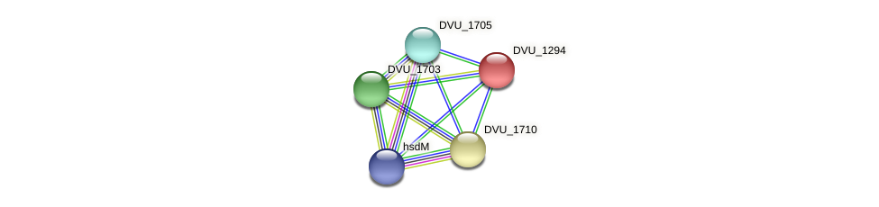 DVU_1294 protein (Desulfovibrio vulgaris Hildenborough) - STRING interaction network