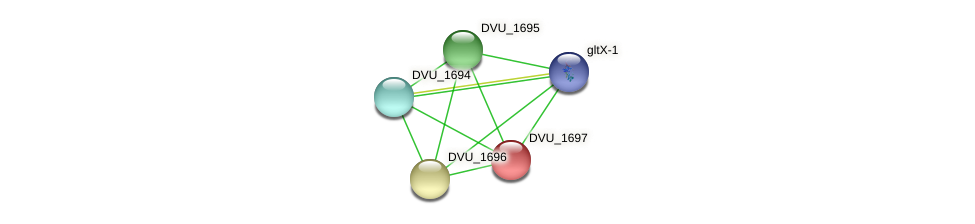 DVU_1697 protein (Desulfovibrio vulgaris Hildenborough) - STRING interaction network