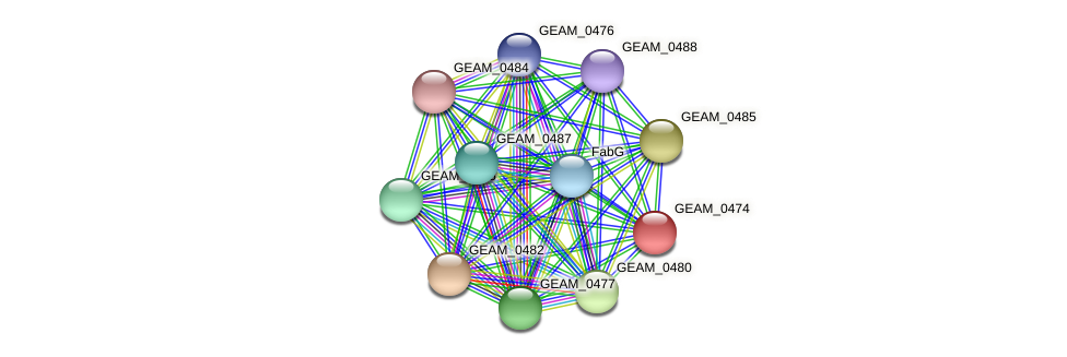 GEAM_0474 protein (Ewingella americana) - STRING interaction network