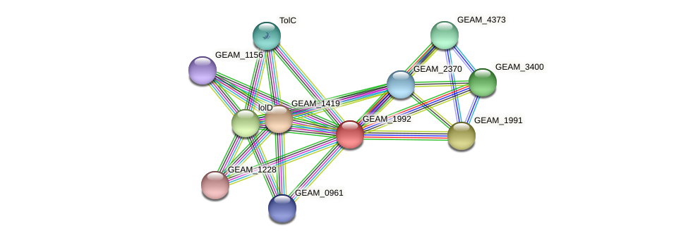 GEAM_1992 protein (Ewingella americana) - STRING interaction network